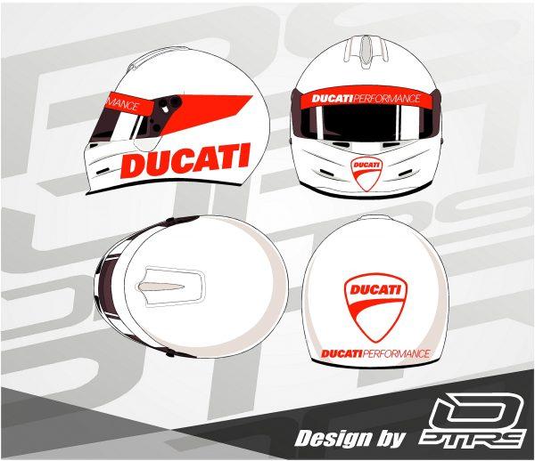 Adhesivos para casco pegatinas Ducati